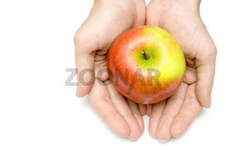 Behueteter Apfel