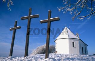 St.Anna-Kapelle und Drei Kreuze auf dem Kornbuehl