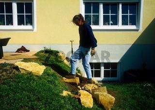 Treppe bauen, Stufen setzen und testen