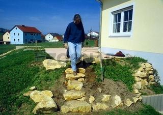 Treppe bauen, Schrittmaß prüfen