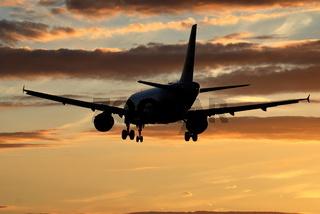 Airbus bei Landung