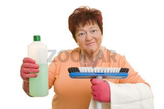 Bereit zum Putzen