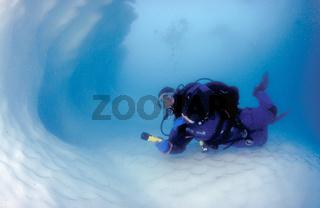 Taucher in der Antarktis