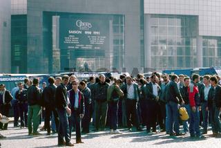 Demonstration von Sicherheitslleuten