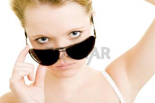 Blick über Sonnenbrille