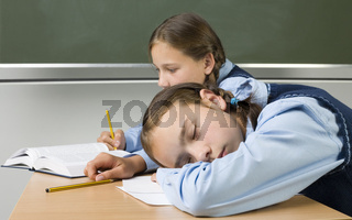 Sleeping at school