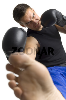 Fighter's kick