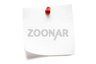 Weisser Notizzettel