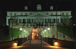 Schloß Bad Pyrmont- Abendbeleuchtung
