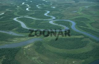 Fluss im Katmai NP in Alaska