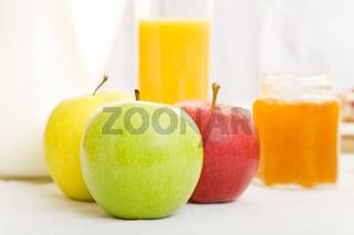 Äpfel zum Frühstück