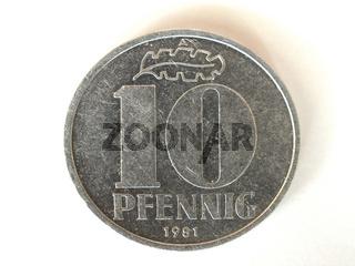 10 Pfennig DDR | 10 Pfennig GDR