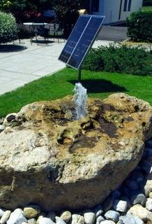 Sprudelstein mit Solarenergie