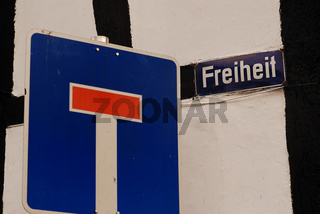 Sackgasse Freiheit / dead end freedom