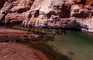 Vulkanische Quelle, Lac Assal, Assalssee, Afrika, Africa