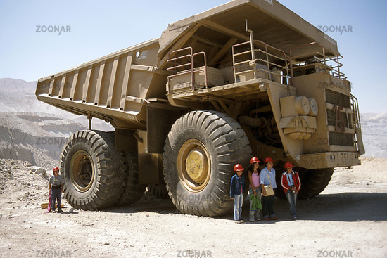 Lkw in der Mine von Chucicamata, Chile