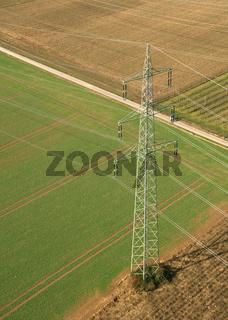 Power Pole From Above / Strommast von oben