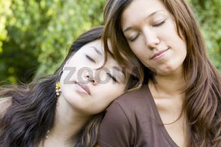 An der Schulter einschlafen