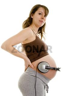 Babybauch hört Musik