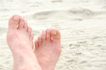 Sandy feet