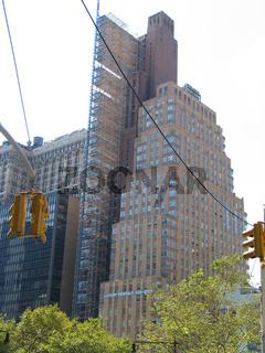Wolkenkratzer-Baustelle