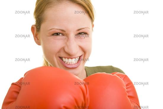 Grimmige Boxerin