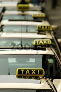 wartende Taxis