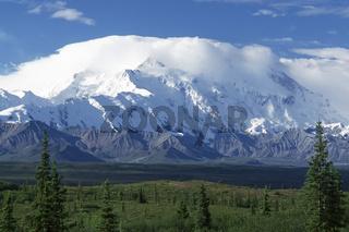 mount mckinley, alaska range, alaskakette, denali nationalpark and preserve, alaska interior, usa,