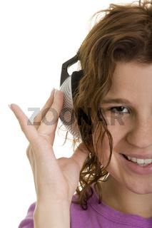Twen mit Kopfhörern