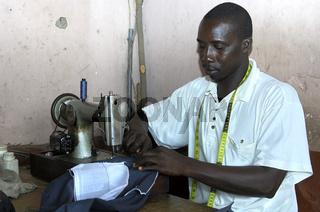 Schneider in bei der Arbeit, Ghana