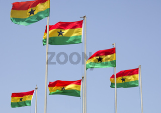 Nationalflagge von Ghana