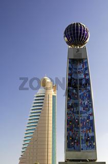 Etisalat Turm, Gedenkstele, Dubai