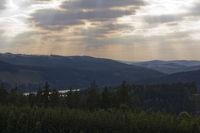 Blick ueber den Thueringer Wald