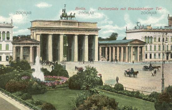 Berlin Pariserplatz mit Brandenburger Tor