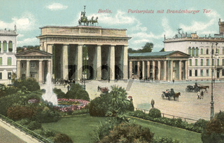 Berlin Pariserplatz mit Brandenburger Tor