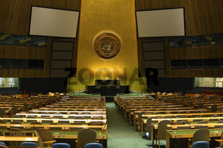 Sitzungssaal der UNO-Vollversammlung New York