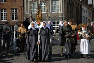 Brügge, religiöse Prozession im August