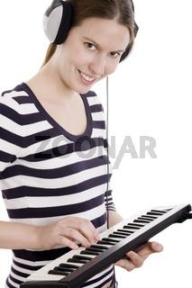 Keyboard schwarz weiß