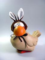 Ostern ~ witzige Hasen-Ente mit Plüschohren