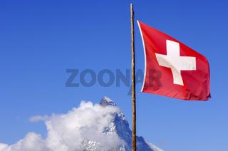 Flagge Schweiz Matterhorn