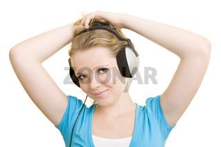 Mädchen mit Kopfhörern