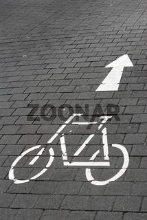 Fahrräder vorwärts