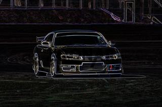 neon white drift racer