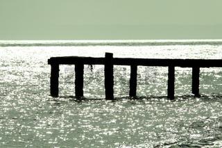 Pier bei Sonnenuntergang