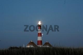 westerhever, deuschland, schleswig-holstein, leuchtturm, abendstimmung, germany, lighthouse, light-house