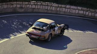 Golden Porsche in Rallye Monte-Carlo Historique