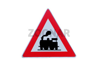 Verkehrsschild Achtung Zug | traffic sign attention train
