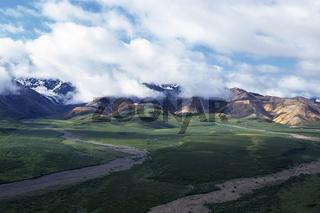 alaska range, alaskakette, denali nationalpark and preserve, alaska interior, usa,