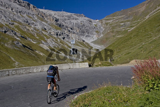 Radfahrerziel Stilfserjochstrasse / alpine road