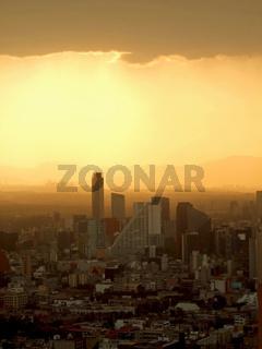 Smog über Mexiko City